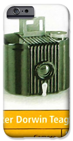 Old Pitcher Paintings iPhone Cases - Kodak Baby Brownie Camera iPhone Case by Lanjee Chee