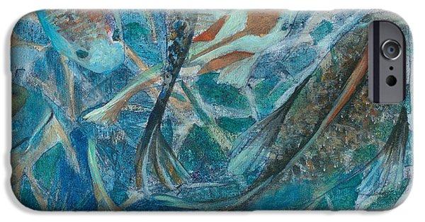 Koi Paintings iPhone Cases - Koi iPhone Case by Arlissa Vaughn