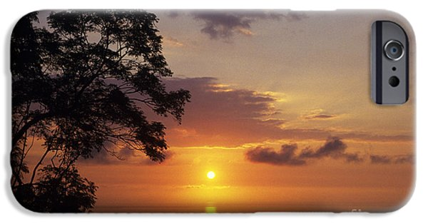 Overhang iPhone Cases - Kona Coast Sunset iPhone Case by Peter French - Printscapes