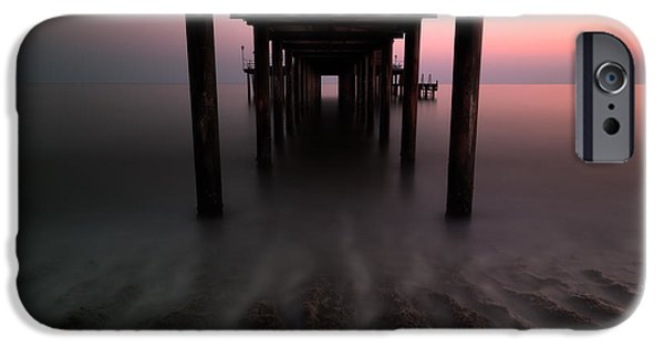 Ocean Sunset iPhone Cases - Konakli Pier iPhone Case by Tor-Ivar Naess