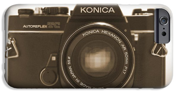35mm iPhone Cases - Konica TC 35mm Camera iPhone Case by Mike McGlothlen