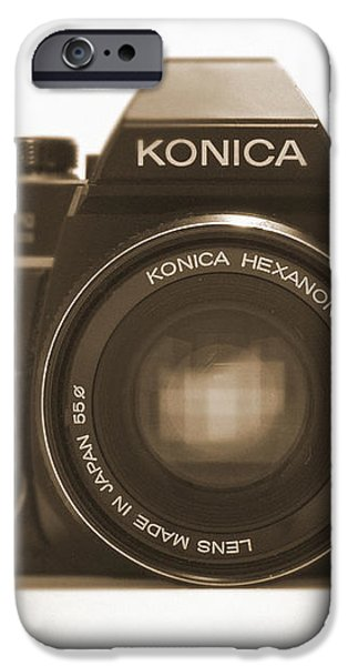 Konica TC 35mm Camera iPhone Case by Mike McGlothlen