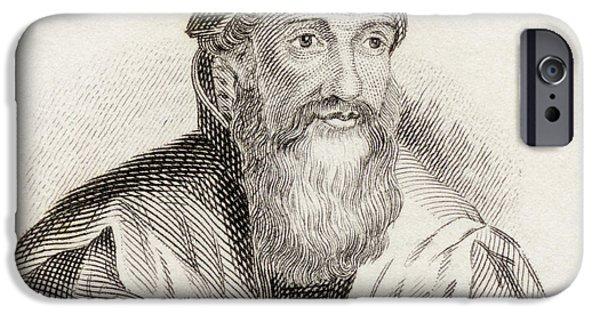 Swiss Drawings iPhone Cases - Konrad Gessner, 1516 To 1565. Swiss iPhone Case by Ken Welsh