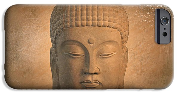 Buddhist Sculptures iPhone Cases - Korean Antique Oil Paint Effect iPhone Case by Terrell Kaucher