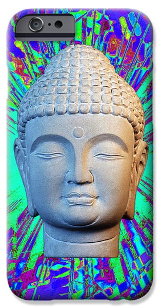 Buddhist Sculptures iPhone Cases - Korean C2 Colorful  iPhone Case by Terrell Kaucher