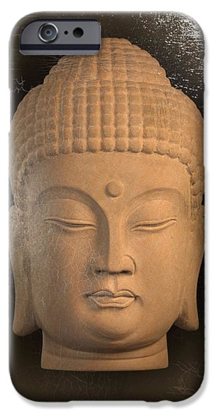 Buddhist Sculptures iPhone Cases - Korean oil paint effect iPhone Case by Terrell Kaucher