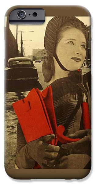 1950s Portraits iPhone Cases - Krasnyy iPhone Case by Jayne Surrena