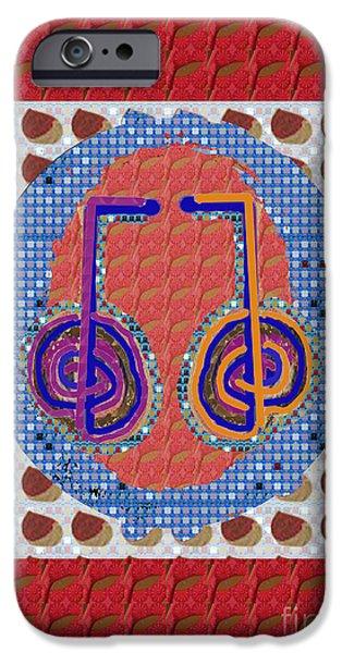 Serpent iPhone Cases - kRIYA Karuna Reiki Healing Symbol art buy posters greetings pillows duvet covers phone cases tote ba iPhone Case by Navin Joshi