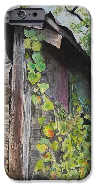 Recently Sold -  - Old Barns iPhone Cases - Kudzu iPhone Case by Isabel Farrell