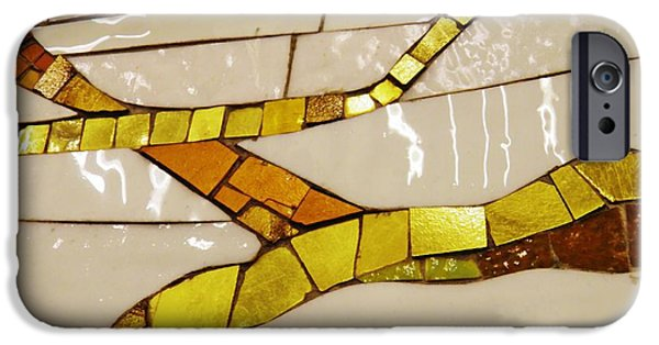 Mosaic iPhone Cases - Kunce Mosaic iPhone Case by Sarah Loft