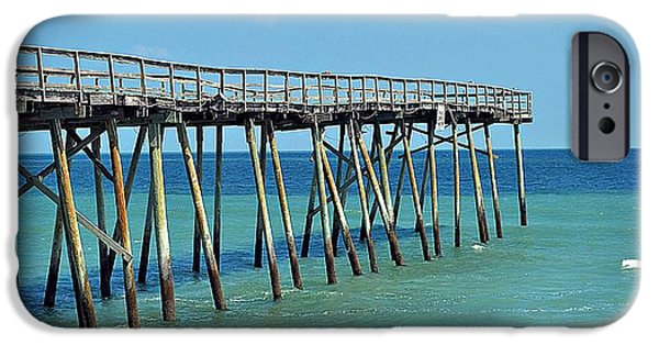 United States iPhone Cases - Kure Beach Fishing Pier iPhone Case by Toni Abdnour