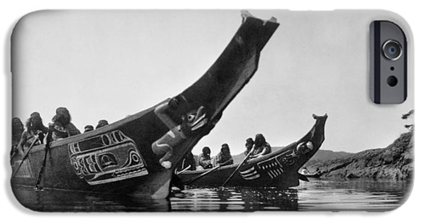 1914 iPhone Cases - KWAKIUTL CANOES, c1914 iPhone Case by Granger