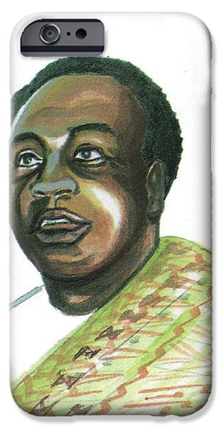 Kwame Nkrumah iPhone Case by Emmanuel Baliyanga