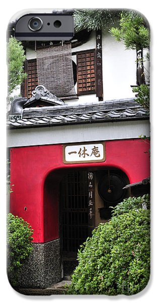 Japan House iPhone Cases - Kyoto doorway iPhone Case by Andy Smy