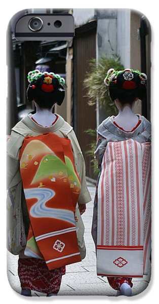 Kyoto iPhone Cases - Kyoto geishas iPhone Case by Jessica Rose