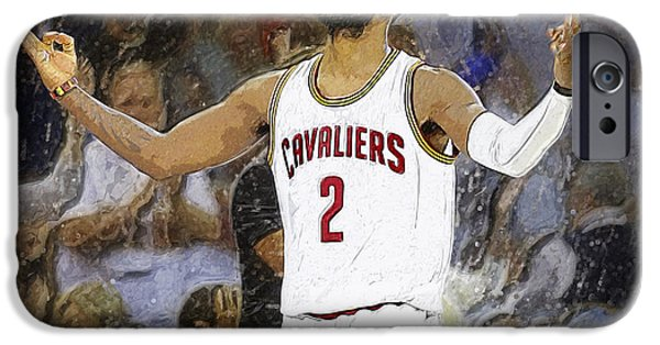 Bob Ross Digital Art iPhone Cases - Kyrie Irving iPhone Case by Semih Yurdabak