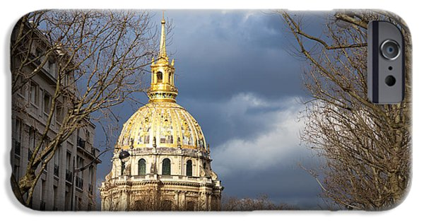 National Building Museum iPhone Cases - L Hotel national des Invalides iPhone Case by Jane Rix