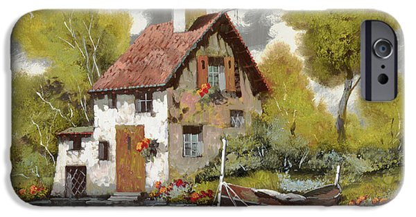 Transportation Jewelry iPhone Cases - La Barca iPhone Case by Guido Borelli