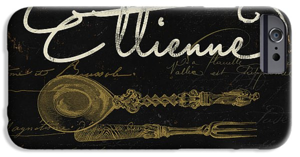 French Signs iPhone Cases - La Cuisine I iPhone Case by Mindy Sommers
