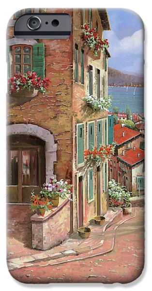 la discesa al mare iPhone Case by Guido Borelli