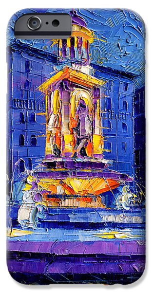 Facade iPhone Cases - La Fontaine Des Jacobins iPhone Case by Mona Edulesco