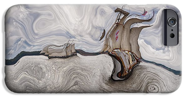 Abstract Realism iPhone Cases - Le Vent dans les Voiles - 51o - Sea Boat Series iPhone Case by Variance Collections