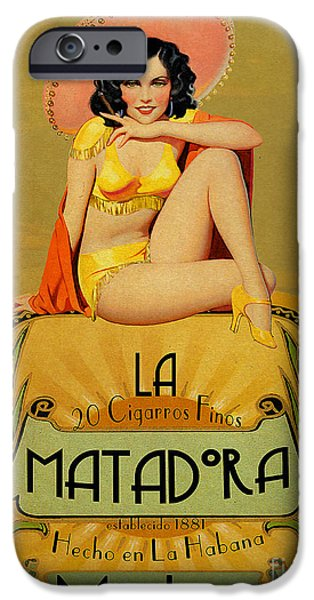 Pin-up iPhone Cases - la Matadora iPhone Case by Cinema Photography