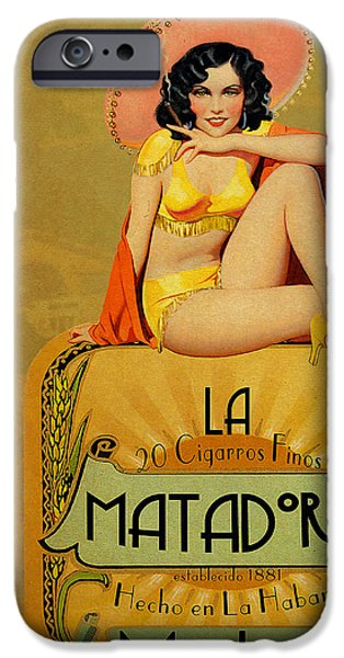 Cuban iPhone Cases - la Matadora iPhone Case by Cinema Photography