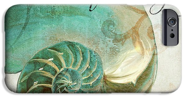 Dunes Paintings iPhone Cases - La Mer I iPhone Case by Mindy Sommers