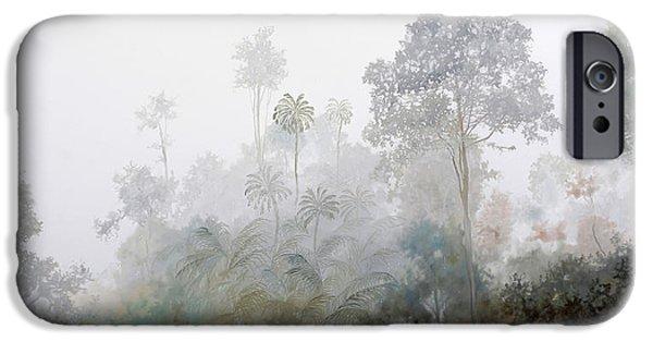 La iPhone Cases - La Nebbia Nella Foresta iPhone Case by Guido Borelli