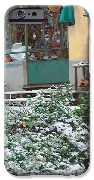 la neve a casa iPhone Case by Guido Borelli