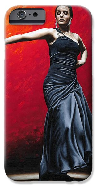 Noble iPhone Cases - La Nobleza del Flamenco iPhone Case by Richard Young