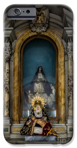 Cradling iPhone Cases - La Pieta Statue iPhone Case by Adrian Evans