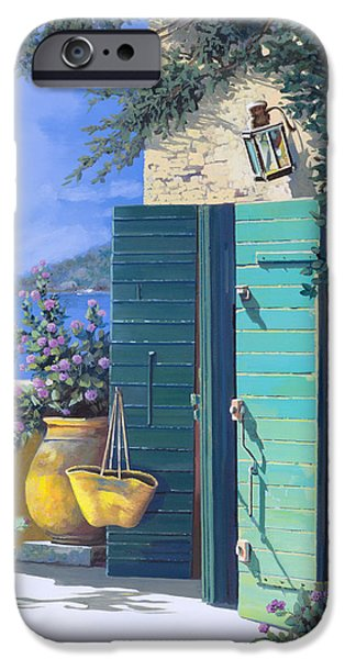 Terraces iPhone Cases - La Porta Verde iPhone Case by Guido Borelli