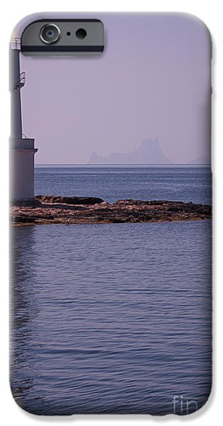 La Sabina Lighthouse Formentera and the island of Es Vedra iPhone Case by John Edwards