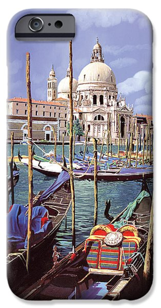 Venice iPhone Cases - La Salute iPhone Case by Guido Borelli