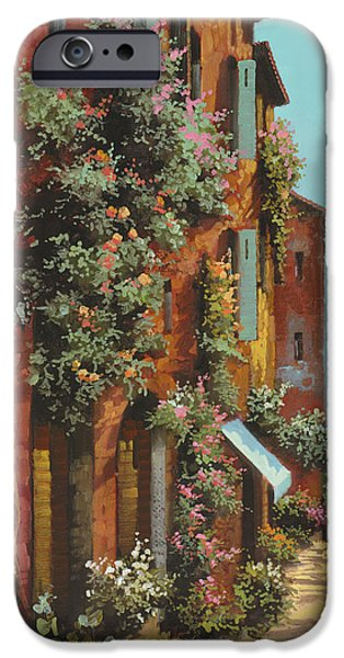 Lakescape iPhone Cases - La Strada Verso Il Lago iPhone Case by Guido Borelli