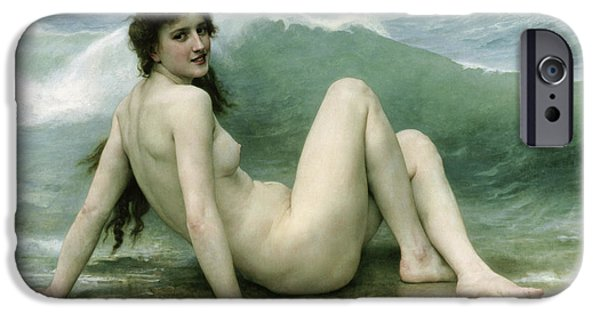 Beautiful iPhone Cases - La Vague iPhone Case by William Adolphe Bouguereau