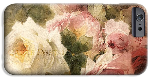 Rose iPhone Cases - La Vie en Rose iPhone Case by Mindy Sommers