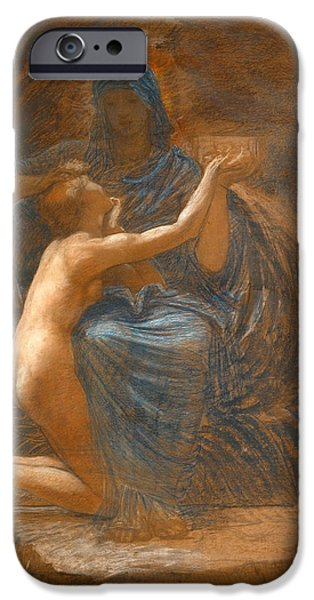 Blake Drawings iPhone Cases - La Vierge Consolatrice iPhone Case by William Blake Richmond