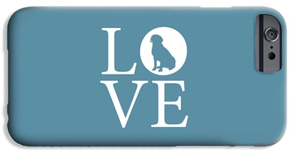 Owner Digital iPhone Cases - Labrador Love iPhone Case by Nancy Ingersoll