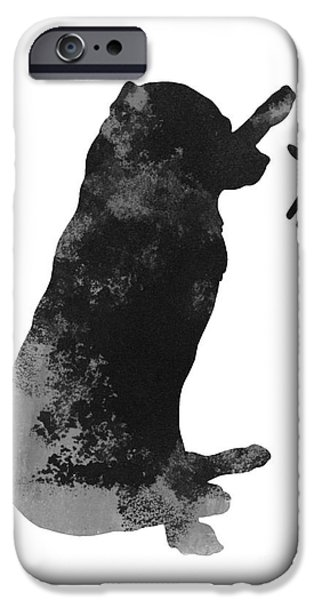 Dog Jewelry iPhone Cases - Labrador puppy kids wall decor iPhone Case by Joanna Szmerdt