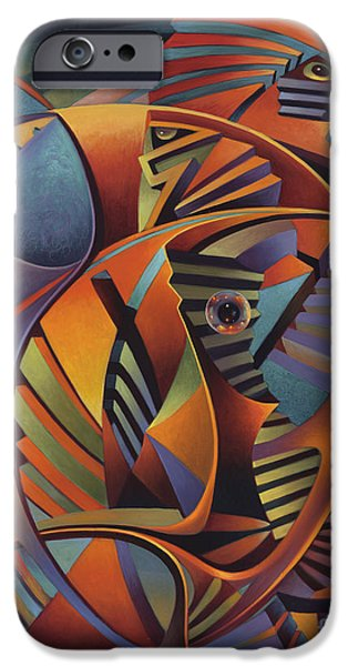 Sphere Paintings iPhone Cases - Labrynth No. III iPhone Case by Ricardo Chavez-Mendez