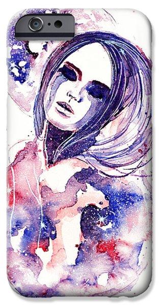 Constellations iPhone Cases - Lacrima Nebula  iPhone Case by Alexandra-Emily Kokova