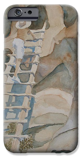 Ruin iPhone Cases - Ladder to the Past iPhone Case by Jenny Armitage