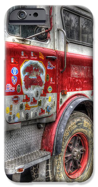 Ladder Truck 152 - In Remembrance of 9-11 iPhone Case by Eddie Yerkish