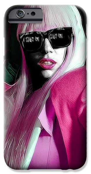 Lady Gaga by GBS iPhone Case by Anibal Diaz