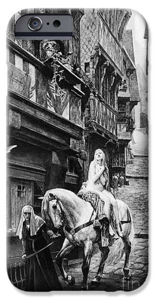 Protesters iPhone Cases - LADY GODIVA, 11th CENTURY iPhone Case by Granger
