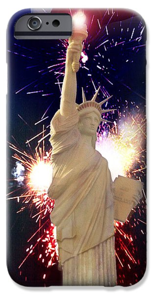 Best Sellers -  - 4th July Mixed Media iPhone Cases - Lady Liberty iPhone Case by Gravityx9  Designs