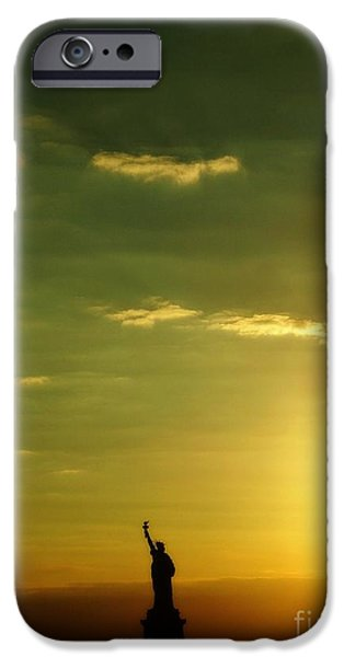 Goddess Of Liberty iPhone Cases - Lady Liberty iPhone Case by Flash28photography